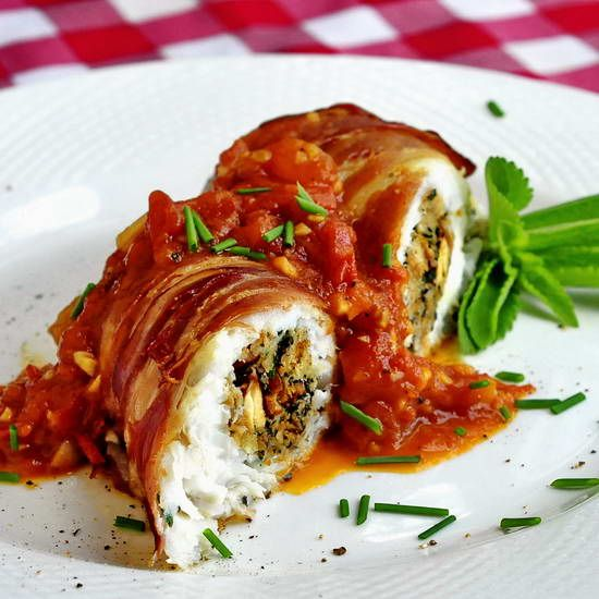 Empire prosciutto and tomatoes on pinterest for Herb cod recipe