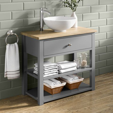 Sutton Countertop Vanity Unit Earl Grey Soak Com With Images