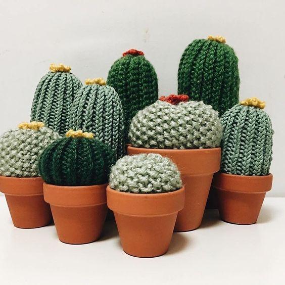 вязаные кактусы самое интересное в блогах