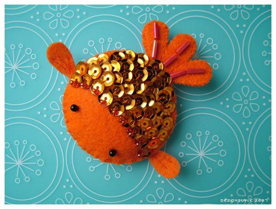 Felt goldfish, so fancy!