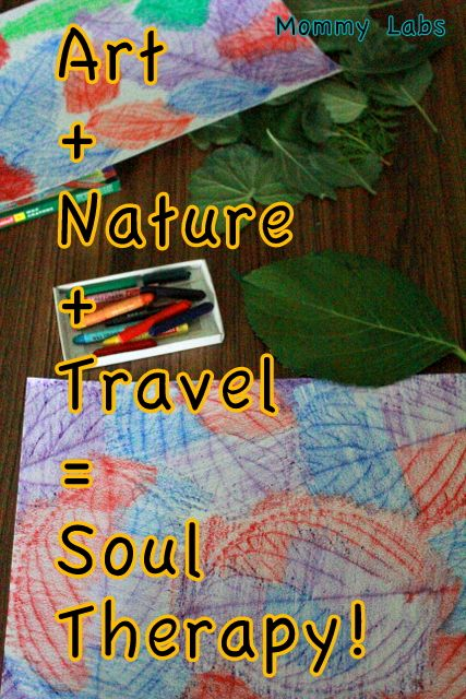 Leaf Crayon Rubbings: Art, Nature, Travel Equals Soul Therapy. Plus some endearing stories from the Himalayas! www.mommy-labs.com