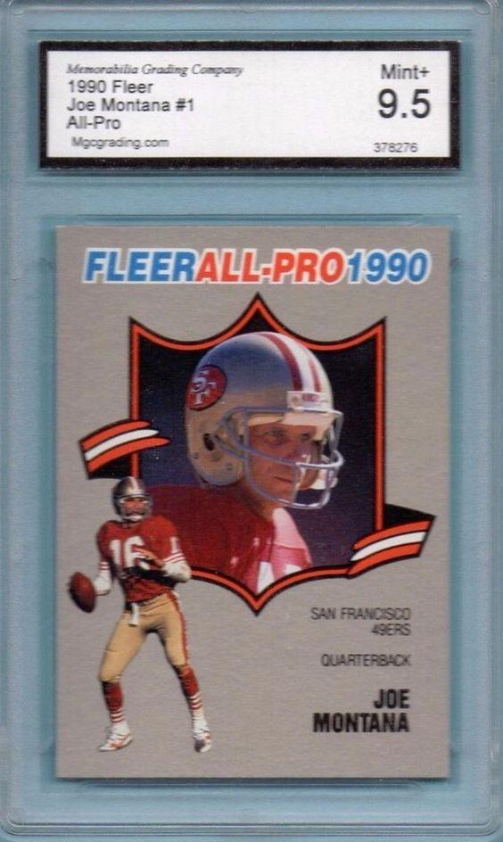 Joe Montana 1990 Fleer MGC Graded 9.5 Mint+ San Francisco 49ers Original Legend #SanFrancisco49ers