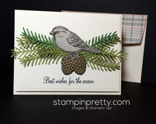 Holiday catalog sneak peek pretty pines pine birds and for Mary fish stampin up