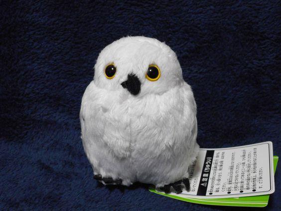 Earth Wind Plush Clip Owl (White) Sekiguchi Japan
