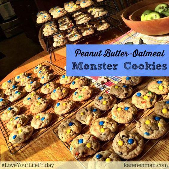 Peanut-Butter Oatmeal Monster Cookies