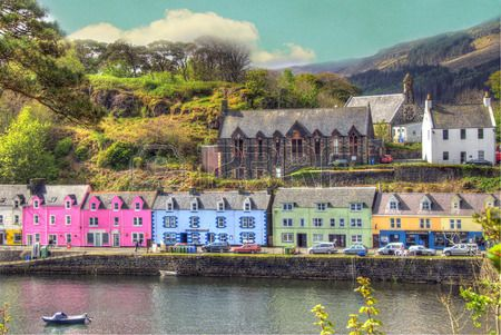 Portree, Isle of Skye, Scotland.
