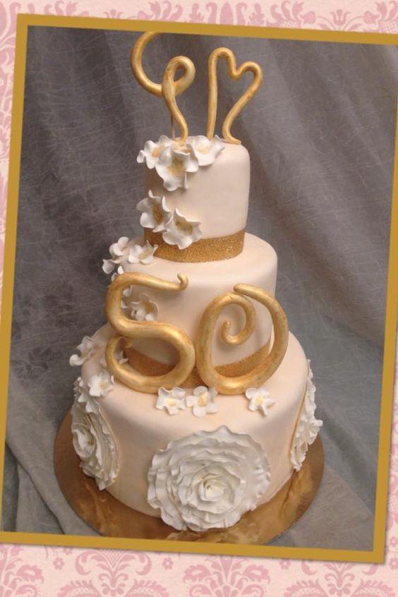 Torta per un 50esimo anniversario di matrimonio torte di for Video anniversario 25 anni di matrimonio