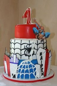 Spiderman birthday cake #Cake