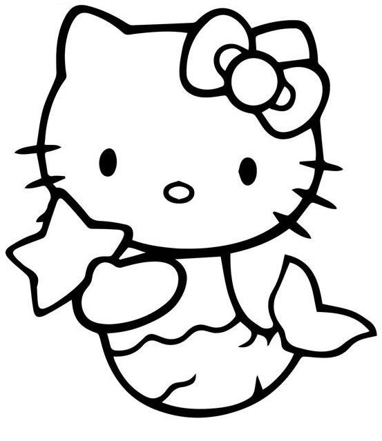 Hello Kitty Mermaid Coloring Pages Best Coloring Pages For Kids Hello Kitty Colouring Pages Hello Kitty Coloring Mermaid Coloring Pages