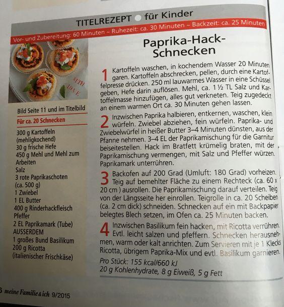 Paprika-Hack-Schnecken