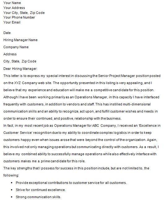Project Manager Career Change Cover Letter Career Change Cover Letter Simple Cover Letter Cover Letter