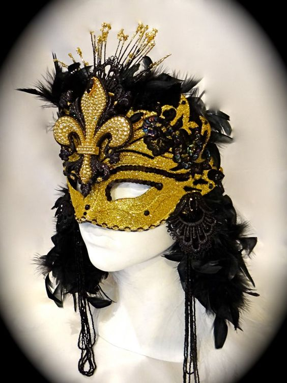 Fleur De Les Masquerade Mask Mardi Gras Masks by Marcellefinery