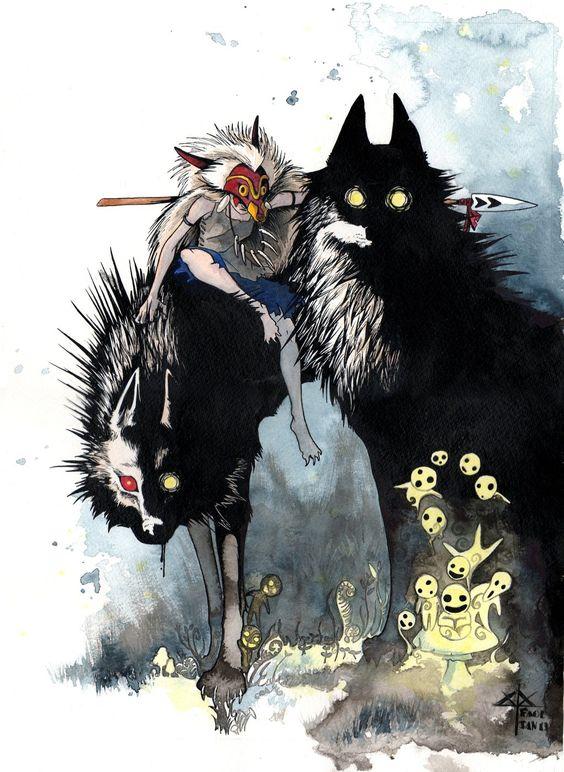 もののけ姫の怒る山犬