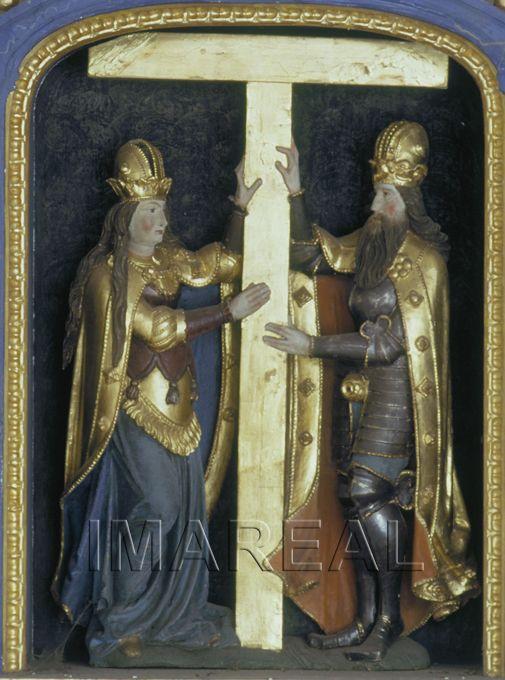 Hl. Helena; Heraklius 1550-1575; Unterwesterheim; Deutschland; Schwaben; Friedhofskapelle (ehem. St. Martin)  http://tarvos.imareal.oeaw.ac.at/server/images/7017687.JPG