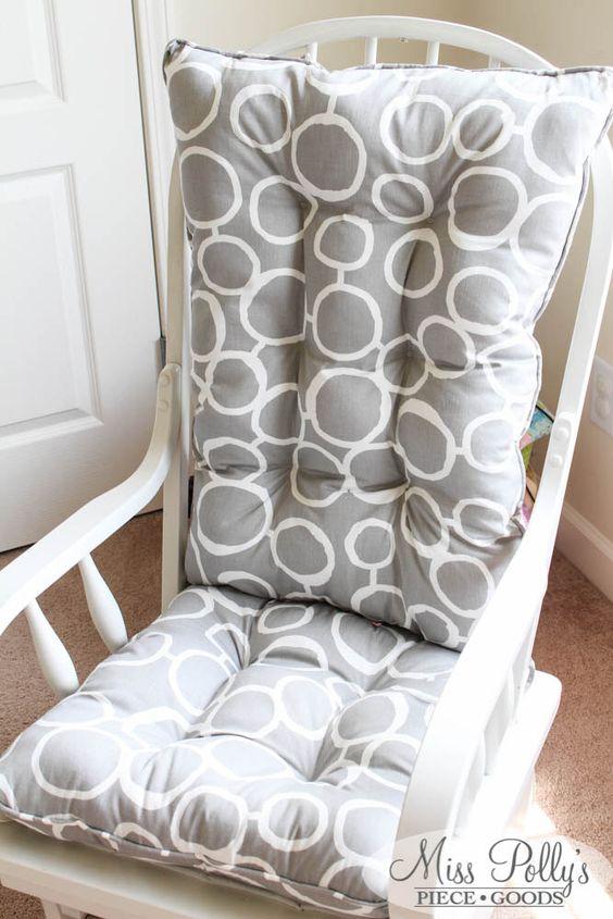 Custom Chair Cushions/ Glider Cushions/ Rocking Chair Cushions by MissPollysPieceGoods on Etsy https://www.etsy.com/listing/187360506/custom-chair-cushions-glider-cushions