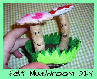punk projects: Felt Mushrooms Tutorial