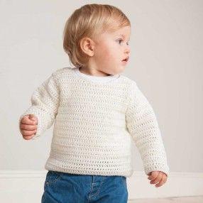 Häkel-Set Babypullover weiß 12-teilig - idee. Online-Shop