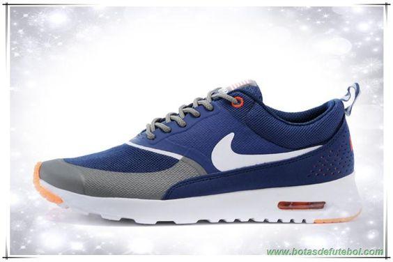 tenis barato Masculino Azul / Laranja / Branco Nike Air Max Thea Print 599409-160