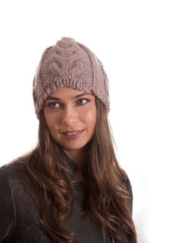 Knit Hat, Winter Hat, Women Hat, Men Hat, Unisex, Knitted Hat, taupe, beige, neutral, Wool Hat, Christmas Gift on Etsy, $40.00