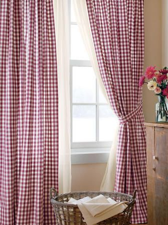 Red gingham checked curtains from Country Curtains - a classic ...