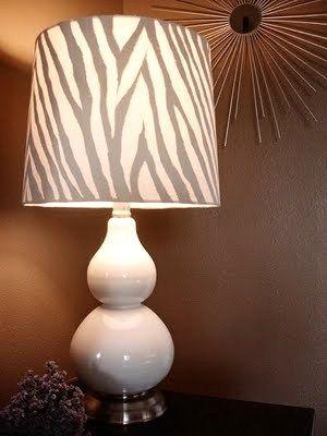 DIY zebra lamp