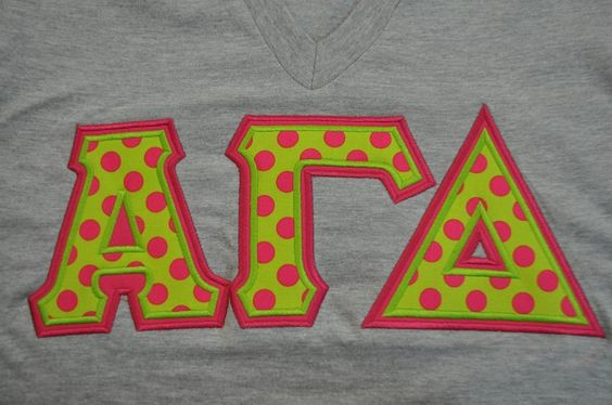 Alpha Gamma Delta Stitched Lettered American Apparel Short Sleeve V-Neck Size Extra Small by NowGreek on Etsy