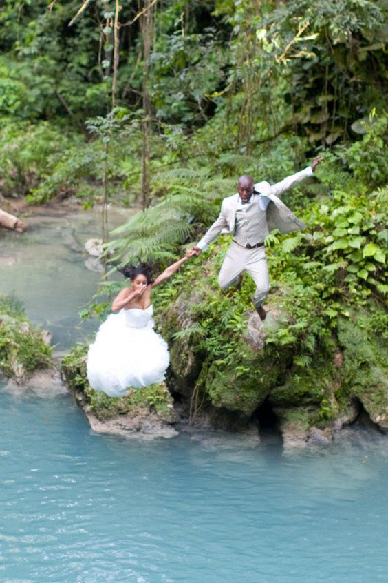 Jamaican destination wedding. #trashthedress
