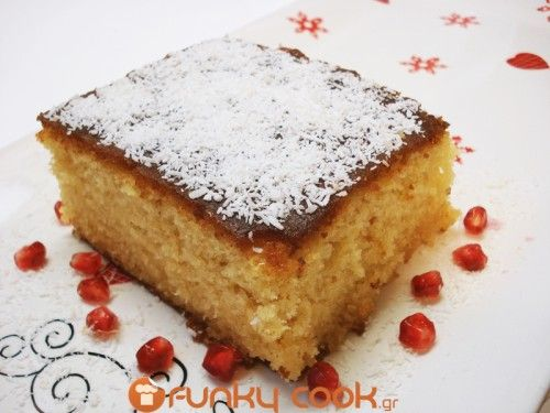 Ravani, Greek Cake with Syrup - Easy and yummy, daily homemade recipes! Greek recipes, Quick recipes, Easy sweets and others.