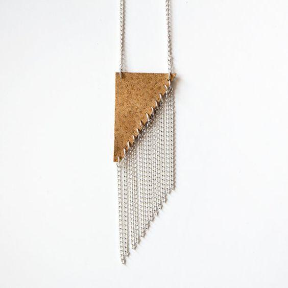 Sienna Halskette / / rechts Dreieck lange Dreieck von ChiChiDee