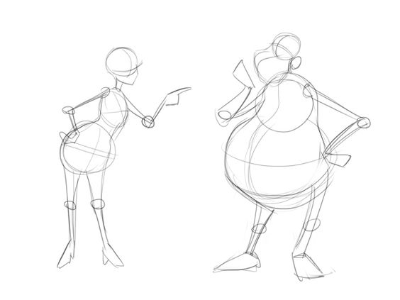 Cartoon Fundamentals: How to Draw a Cartoon Body: add a skeleton