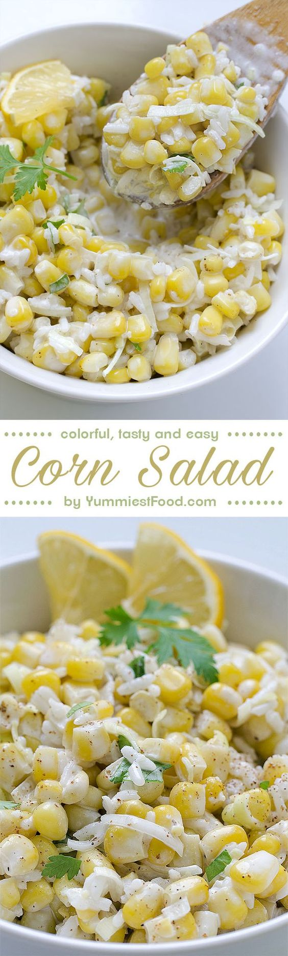 Corn Salad - colorful, tasty and easy, so delicious that you will want to skip main dish and make this a meal instead!