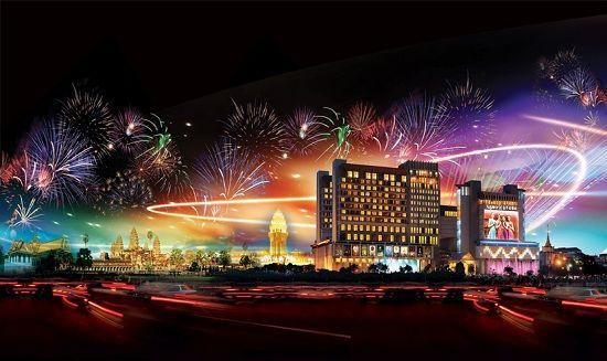Kiến trúc xa hoa tráng lệ của casino này nhìn từ bên ngoài