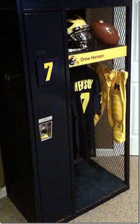 Man Cave Locker Room : Athletic man cave lockers love garage