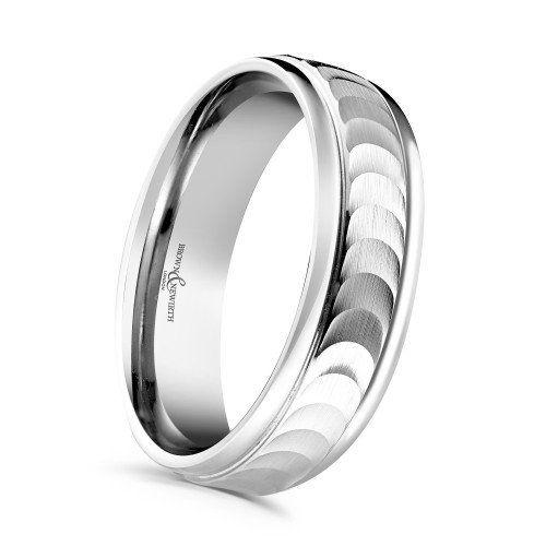Brown Newirth Eclipse 5mm Palladium Wedding Ring Mococo Wedding Rings Palladium Wedding Ring Engagement Ring Wedding Band