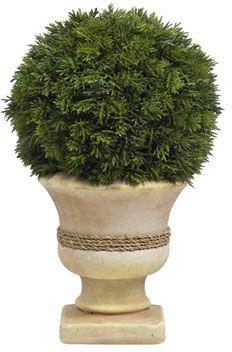 Diane James Cedar Ball Topiary