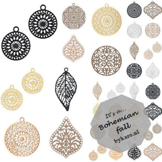 Heel veel nieuwe bohemian bedels in mooie najaarstinten! | www.bykaro.nl voor kralen, bedels en meer...
