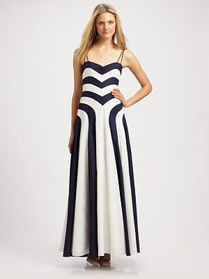 Hadn't really considered a long b/w dress until I saw this one by Milly.