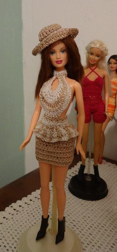 como hacer ropa tejida para muñecas barbie - Buscar con Google