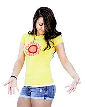 Women's yellow flower shirt papercloudsapparel.com