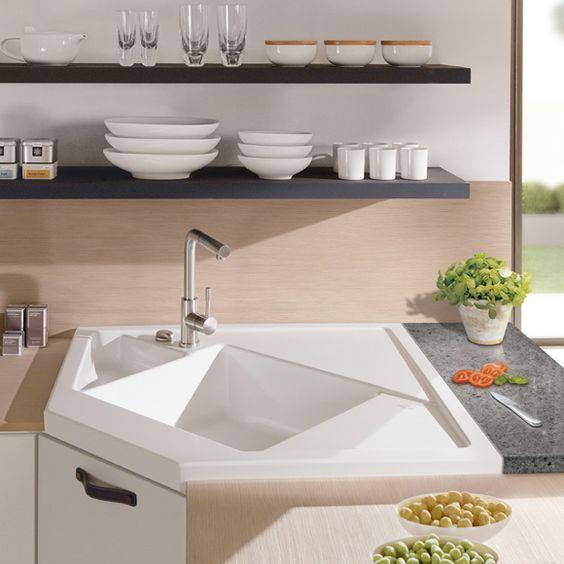 Die besten 25+ Keramikspüle Ideen auf Pinterest Landhausküche - villeroy und boch waschbecken küche