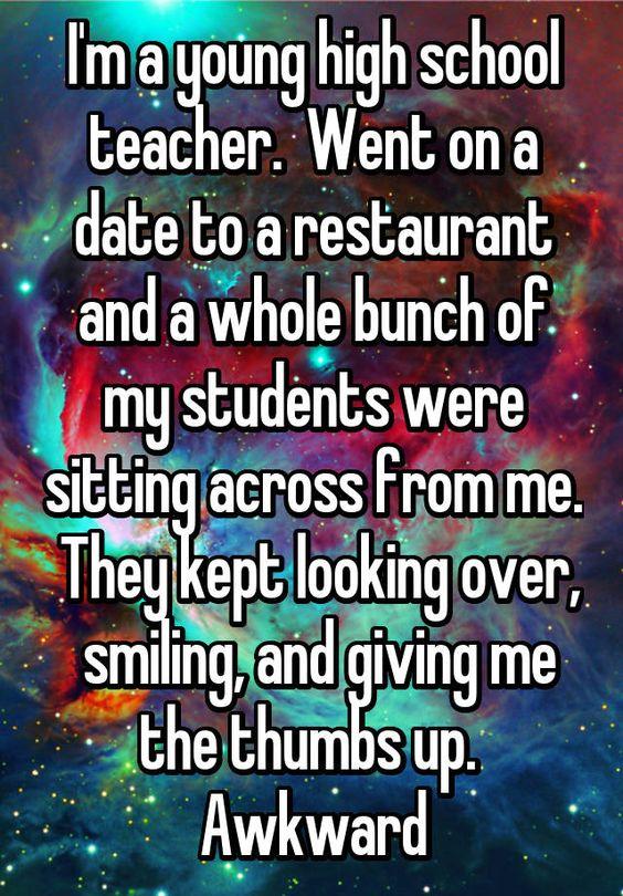 Teacher dating high school student