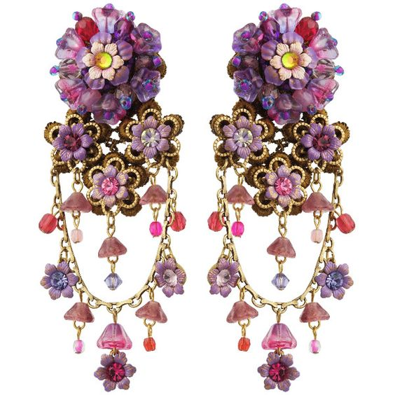 Michal Negrin Jewelry Clip On Flowers Earrings found on Polyvore
