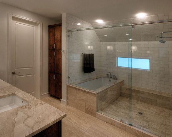 Spaces tub inside shower design pictures remodel decor for Wet room inspiration