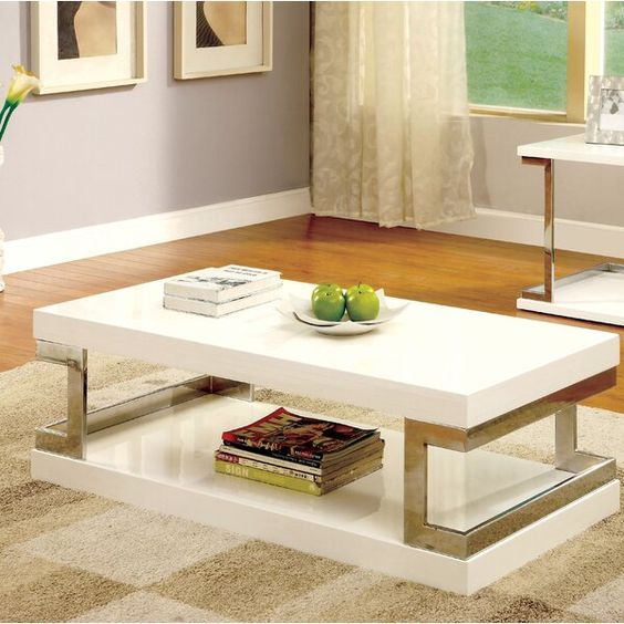 Wright Floor Shelf Coffee Table With Storage In 2020 Coffee