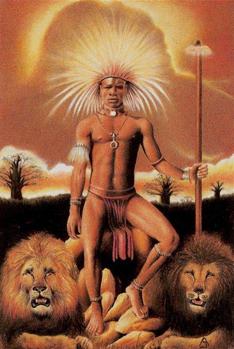 Le roi de bâtons - Tarot des âges par Mario Garizio