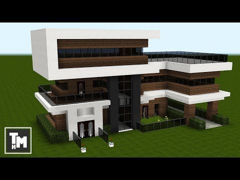Minecraft: How To Build a Modern House / Mansion Tutorial Easy Episode 3 2018 YouTube in 2020 Minecraft mansion Minecraft modern Modern minecraft houses
