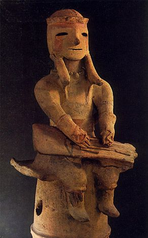 """the haniwa of ancient japan Haniwa: haniwa, (japanese: """"circle of clay"""") unglazed terra-cotta cylinders and   later, in the early 4th century, the cylinders were surmounted by sculptural."""