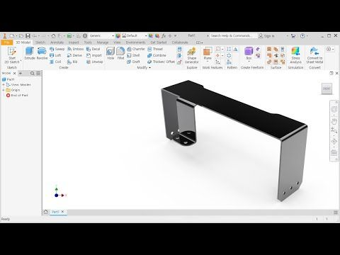 Pin On Inventor Basic Tutorial For Beginners