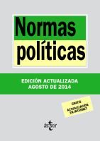 Normas políticas / edición preparada por Luis Aguiar de Luque y Pablo Pérez Tremps