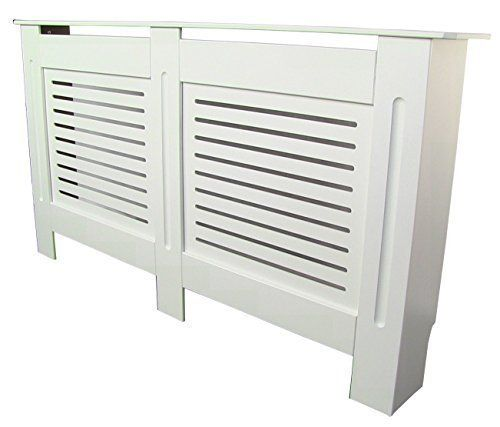 Painted Radiator Cover Radiator Cabinet Modern Style White MDF - Large - 1520mm x 815mm x 190mm